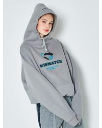 ANOTHER A - Gray Cap Oversized Hoodie Grey - Lyst