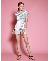 W Concept - Wattermelon T Shirt Blue - Lyst