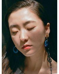 VON DITOLE - Blue Hole Retro Flower Vintage Earring - Lyst
