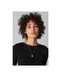 Whistles - Metallic Enamel Sphere Necklace - Lyst