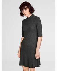White + Warren - Multicolor Cashmere Ribbed Swing Dress - Lyst