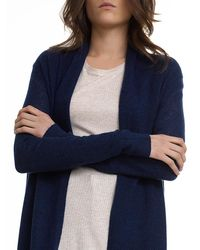 White + Warren | Blue Essential Cashmere Trapeze Cardigan | Lyst