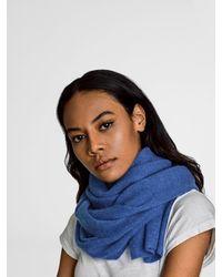 White + Warren - Blue Cashmere Wrap Scarf - Lyst