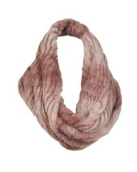 Wilsons Leather - Purple Plush Ombre Faux-fur Infinity Scarf - Lyst