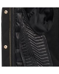 Wilsons Leather - Black Famous Maker Quilted Puffy Jacket W/ Removable Faux-fur Hood - Lyst