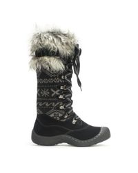 Wilsons Leather - Black Muk Luks® Faux Fur Trim Cold Weather Laced Boot - Lyst