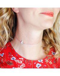 Lee Renee - Multicolor Butterfly Choker Necklace Silver - Lyst