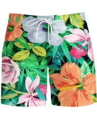 Aloha From Deer - Green Flowery Board Shorts for Men - Lyst