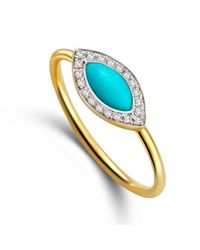 Elham and Issa Jewellery - Multicolor Awe Eye Diamond Ring - Lyst