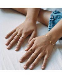 Aletheia & Phos - Metallic I Carry Your Heart Bracelet Silver - Lyst