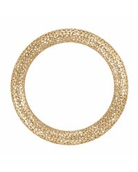 Vitae Ascendere - Metallic Small Lace Gold Bangle - Lyst