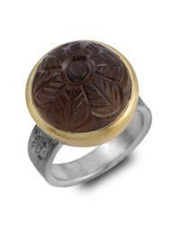 Emma Chapman Jewels - Brown Samsara Carved Smokey Topaz Ring - Lyst