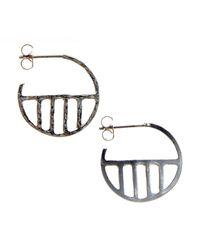 KIND Jewellery - Metallic Silver Eclipse Earrings - Lyst