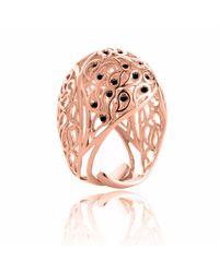 Sonal Bhaskaran - Multicolor Shikhara Rose Gold Dome Ring Black Spinel - Lyst