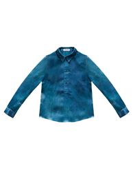 Ever Rêve | Green Lina Hand Dyed Silk Shirt | Lyst