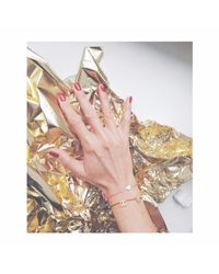 Tadam! Design - Mat Gold Heart Memory Bracelet Black - Lyst