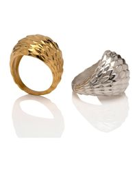 MARINA SKIA - Metallic The Viper Bombe Ring 22ct Vermeil - Lyst