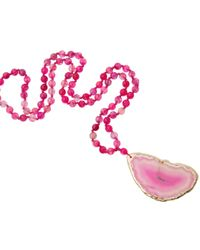 Jiya Jewellery - Nikki Pink Necklace - Lyst