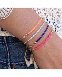 Jiya Jewellery - Pink Palm Beach Bracelet Fuchsia - Lyst