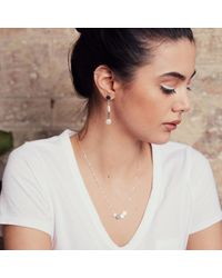 Vicky Davies Jewellery - Metallic Dot Disc Earrings - Lyst