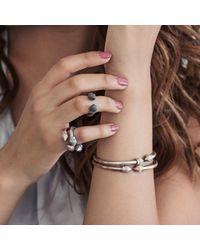 Durrah Jewellery - Metallic Cylinder Bangle - Lyst
