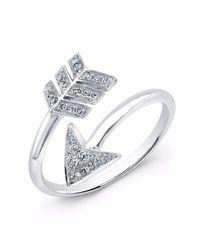 Anne Sisteron | White Gold Diamond Wrap Around Arrow Ring | Lyst