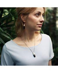 KAMENA JEWELLERY - Metallic Hewed Medium Necklace With Black Oak Silver - Lyst