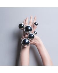 CIVILIAN LONDON | Metallic Small Orb Ring | Lyst