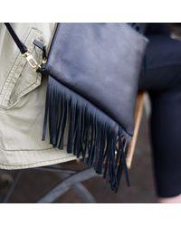 Davina Mulford London - Fringed Cross Body Bag Black - Lyst