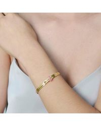 Tada & Toy - Metallic Earth Runner Bangle Gold - Lyst