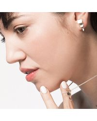 Delacruz - Metallic Wave Ray Earrings - Lyst