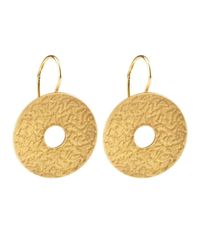 Dutch Basics - Metallic Coins Earrings Gold - Lyst