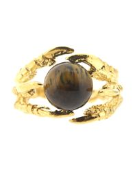 Tessa Metcalfe | Metallic Pearl Of London Tigers Eye Gold | Lyst