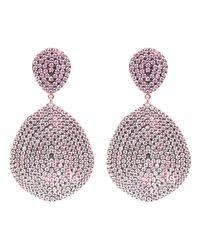 Latelita London - Monte Carlo Earring Rosegold Light Pink - Lyst