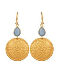Carousel Jewels | Multicolor Chalcedony & Hammered Disc Earrings | Lyst