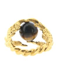 Tessa Metcalfe - Metallic Pearl Of London Tigers Eye Gold - Lyst