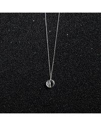 KIND Jewellery - Metallic Silver Mini Demi Lune Disc Necklace - Lyst