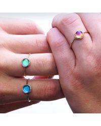 moodlit - Multicolor Rose Gold Mood Ring - Lyst