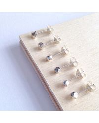 ANUKA Jewellery - Metallic Tiny Mani Faceted Stud Earrings - Lyst