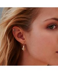 Monarc Jewellery - Metallic The Montezuma Stud Earrings Sterling Silver - Lyst