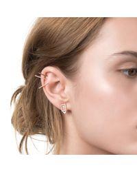 Astrid & Miyu - Metallic Rectangle Ear Jacket In Gold - Lyst