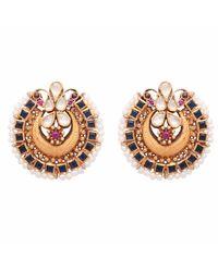 Carousel Jewels - Metallic Crystal & Pearl Intricate Statement Earrings - Lyst