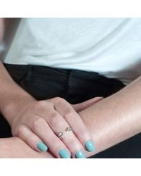 Tada & Toy - Metallic Shark Fin Ring Milky Aquamarine - Lyst