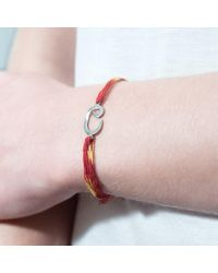 Tada & Toy | Red Indian Wish Bracelet Rose Gold | Lyst