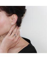 Dorota Todd - Metallic Pearl Duo Earrings Silver - Lyst