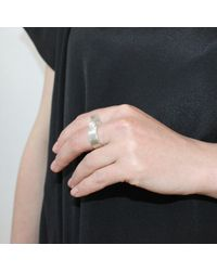 Dorota Todd - Metallic Open Ring White Pearl - Lyst