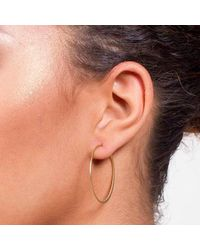 Dutch Basics - Metallic Fine Hoop Earrings - Lyst