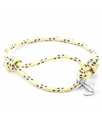 Anchor & Crew - Multicolor Yellow Dash Severn Rope Bracelet for Men - Lyst