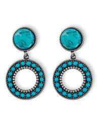 Platadepalo | Blue American Indian Turquoise Earrings | Lyst