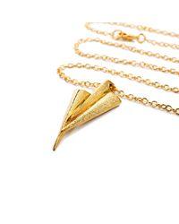 Ona Chan Jewelry - Metallic Three Dagger Necklace Gold - Lyst